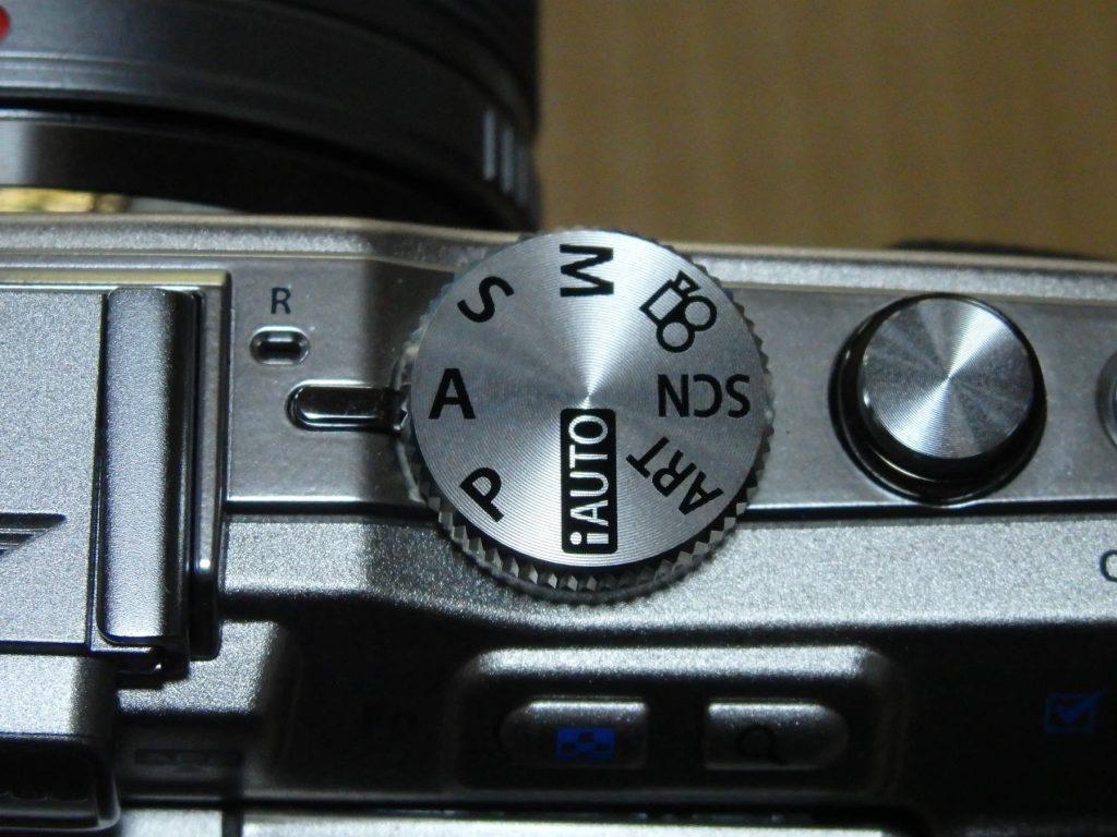 カメラのモードダイヤル、Aモード